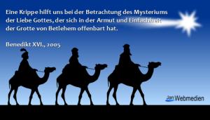 Drei Könige, Benedikt XVI.