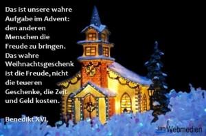 Benedikt XVI., Advent