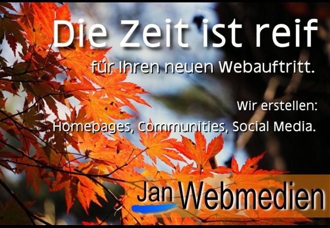 Jan Webmedien, Webseite, Community, Homepage erstellen