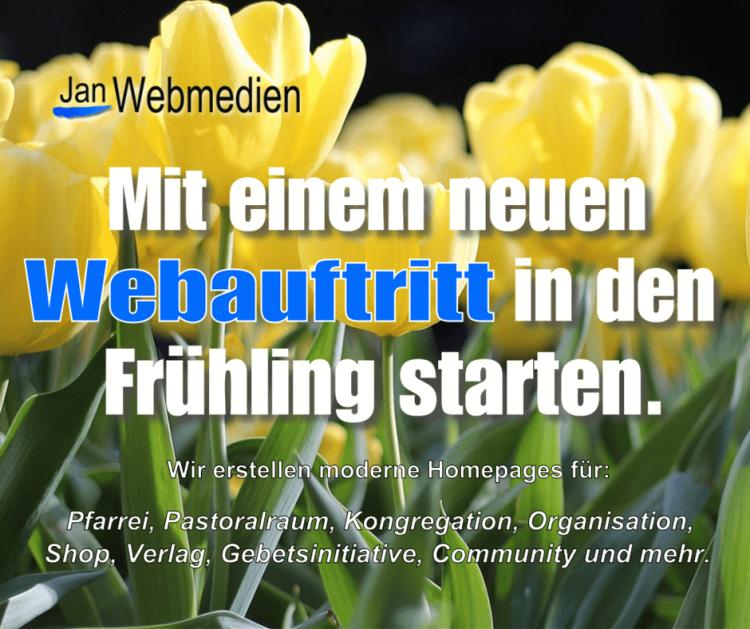 Mit einem neuen Webauftritt in den Frühling starten.